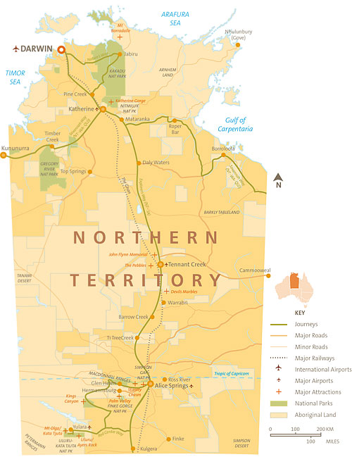 Map Northern Territory
