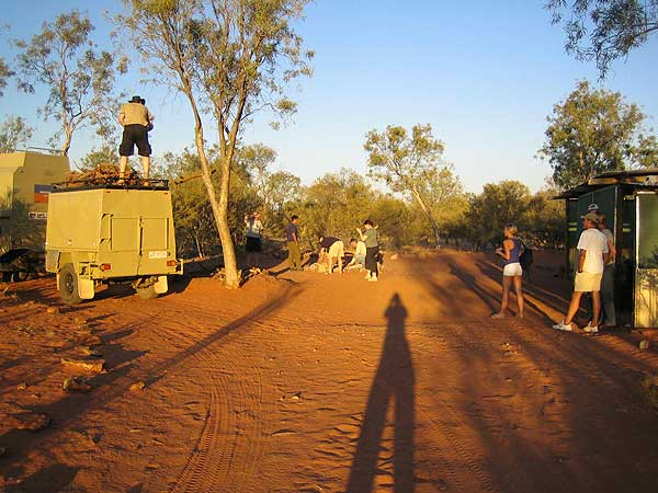 Camping-Platz im Outback