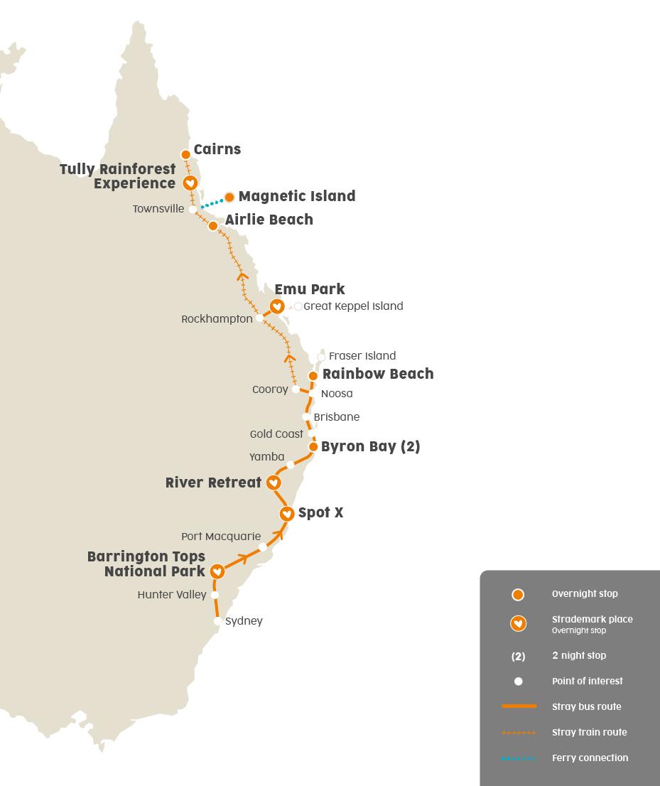 In der Gruppe entlang der australischen Ostküste reisen