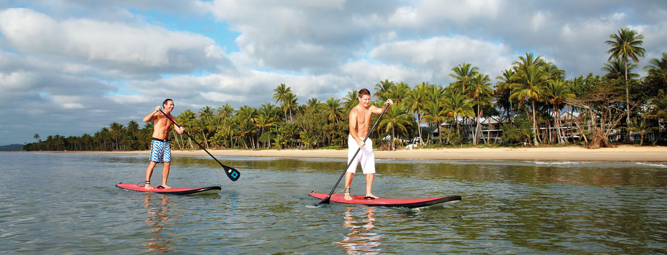 Misson Beach Standup Paddler