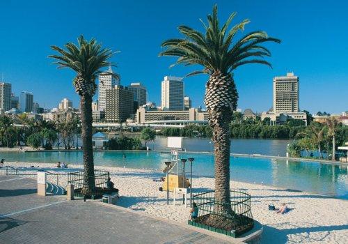 Die Lagune von Brisbane