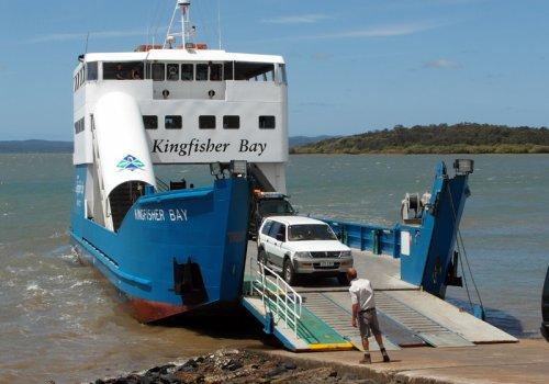 Die Fähren nach Fraser Island